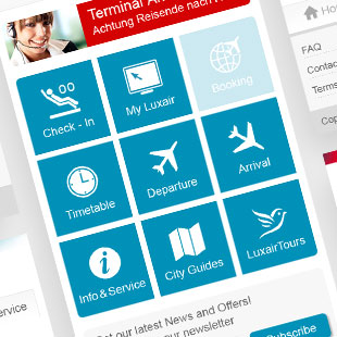 Luxair, Mobile Webseite